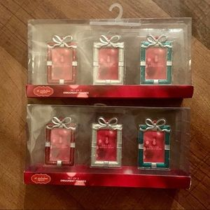 2 new in box sets of ornaments (6 total)